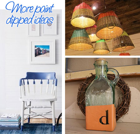 Paint dipped home decor