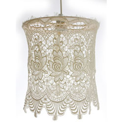 Striped lamp shades lace lamp shades on home dzine make your own lace lamp shades aloadofball Image collections