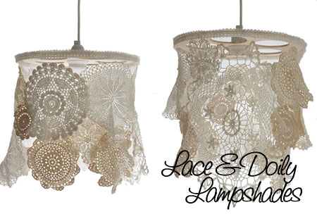 Home dzine craft ideas make your own doily lamp shades doily lamp shades mozeypictures Images