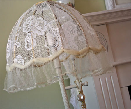 Home dzine craft ideas make your own lace lamp shades lace lamp shades thepolkadotclosetspot make your own aloadofball Gallery