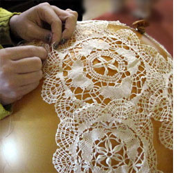 Home dzine craft ideas make your own doily lamp shades make your own doily lamp shades mozeypictures Images
