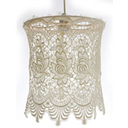 How to make a lace lampshade