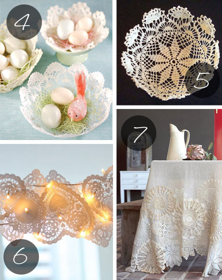 Crafts Ideas Using Old Doilies