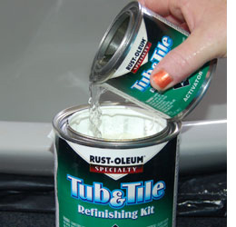 Attrayant Rust Oleum Tub U0026 Tile Refreshing Kit Comes With A Tin Of Base And A