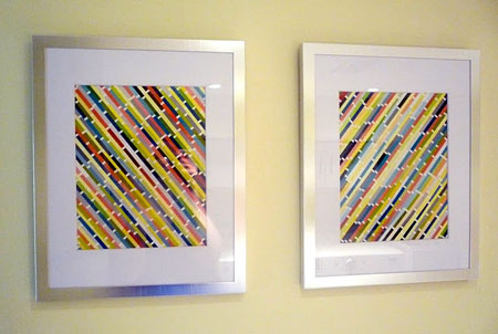 HOME DZINE Craft Ideas | Paint swatch wall art