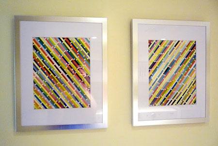 Home Dzine Craft Ideas Paint Swatch Wall Art