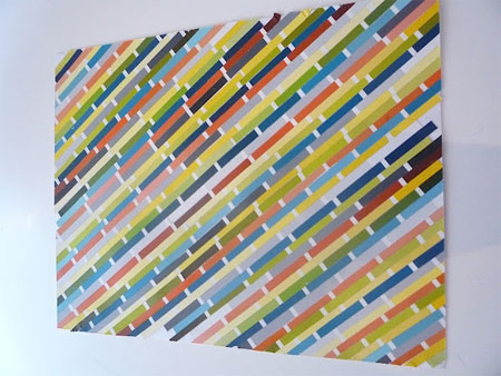 HOME DZINE Craft Ideas | Paint swatch wall art