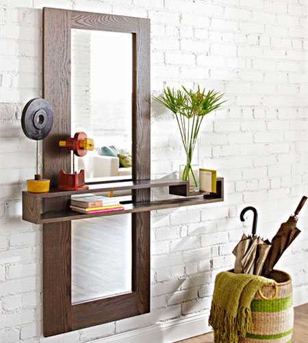 Home Dzine Home Diy Framed Mirror For Hallway Or Entrance