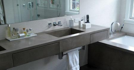Home Dzine Bathrooms Concrete Bathroom Vanities