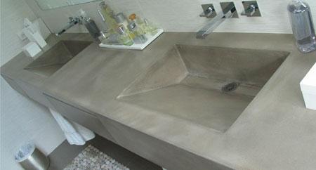 Concrete Bathroom Vanities