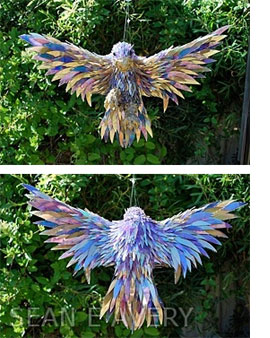 Recycle old CD's into sculptures