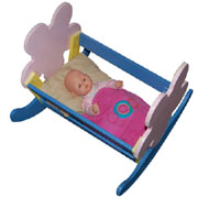 Rocking cradle for baby doll