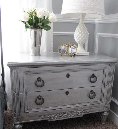 Metallic Paint Technique Effect On Furniture