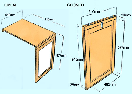 HOME DZINE Home DIY Make A Flipup Flipdown Table - Flip this table flip that table