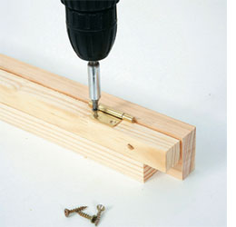 Build The Upper Lock Bracket By Securing The 20mm X 20mm Wall Support To  The 40mm Lock Frame Flap With Two Butt Hinges. Have A Helper Raise The Table  Into ...