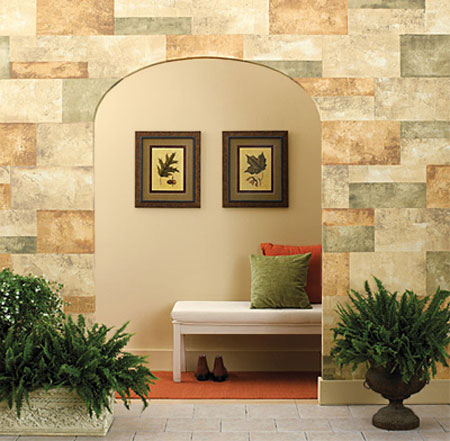 HOME DZINE | Stacked stone wall with paint