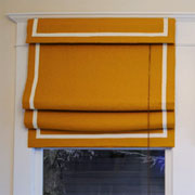 Cover up old bamboo blinds
