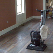 Sand, stain and seal a wooden floor