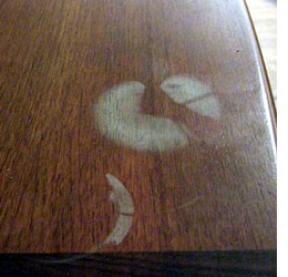 Hide scratches on furniture