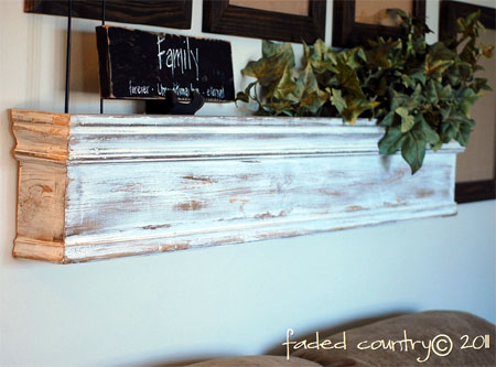 How to make and hang a wooden shelf
