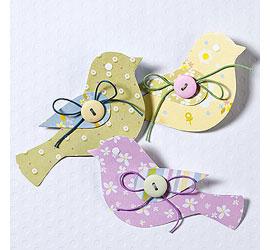 paper or card birds for wedding or party garland