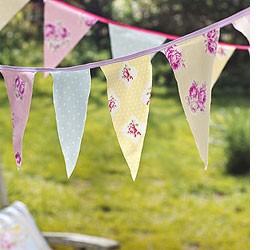 paper or card garland for wedding or party