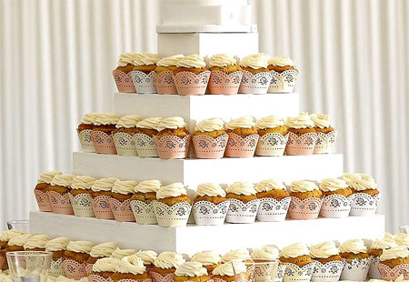cupcake wedding or party display for table centrepiece