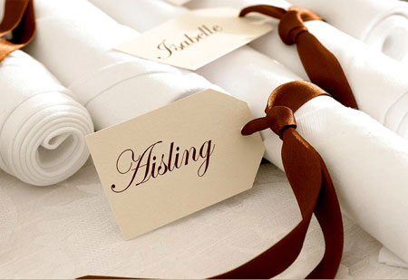 paper or card place cards for wedding or party
