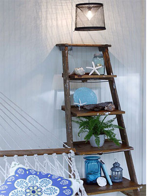 cheap for discount de413 92ddf HOME DZINE Craft Ideas | Stepladder shelves