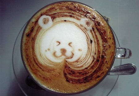 making a good cup of espresso coffee is an art within itself - coffee art also known as latte art