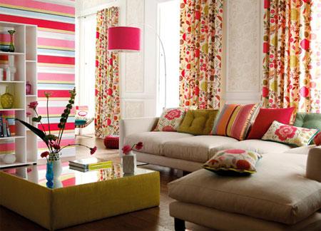 Home dzine home decor are you ready for pattern - Style de rideaux pour salon ...