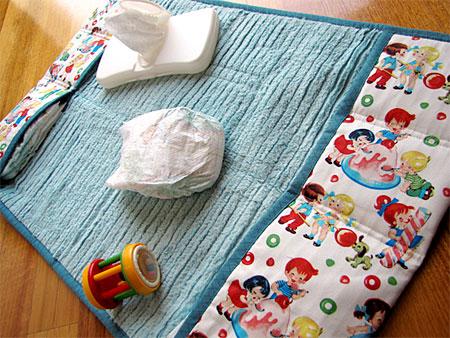 Home Dzine Crafts Fabric Baby Changing Bag