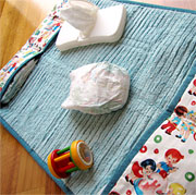 Fabric baby changing bag