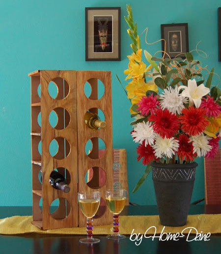 how to make a modern wine rack