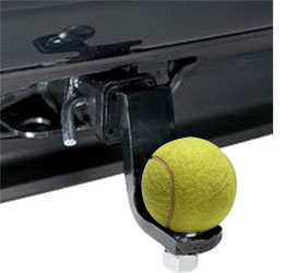 tennis ball for towbar hitch