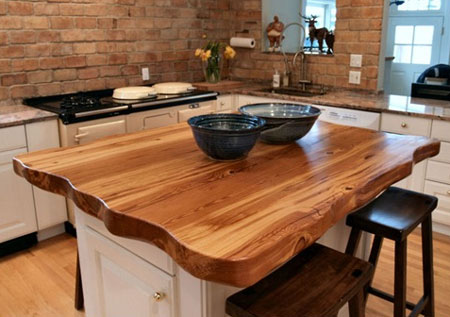 Home Dzine Kitchen Solid Wood Countertops For Kitchens