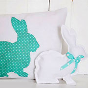 Sew up a couple of bunny cushions
