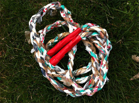 Crafts for tweens skipping rope made from plastic bags
