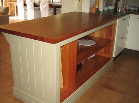 Home dzine kitchen solid wood countertops for kitchens for Kitchen island johannesburg