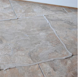Home dzine home improvement vinyl floor tiles are for Can you seal vinyl flooring