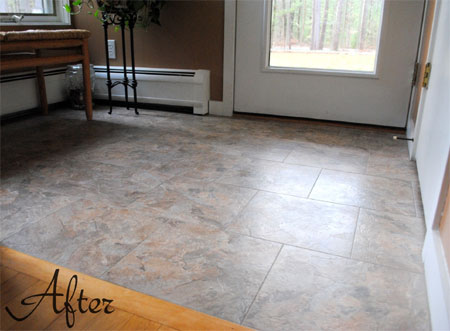 HOME DZINE Home Improvement | Vinyl floor tiles are affordable and ...