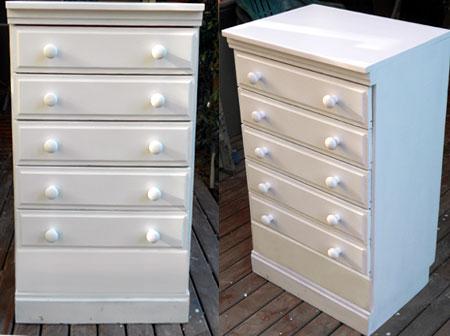 spray paint pine furniture. Black Bedroom Furniture Sets. Home Design Ideas