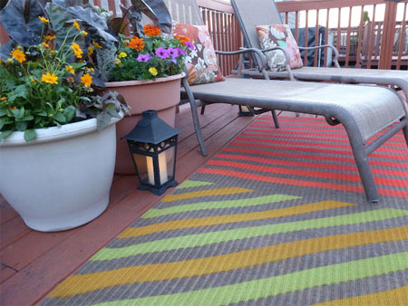 HOME DZINE Craft Ideas Use Spray Paint On Rugs And Carpet