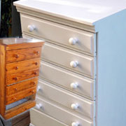 How to spray paint pine furniture