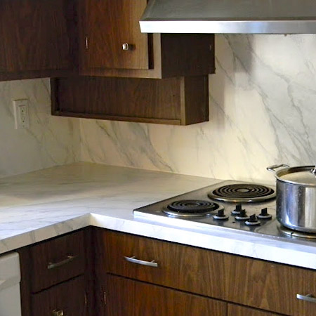 Kitchen Countertops With Faux Marble