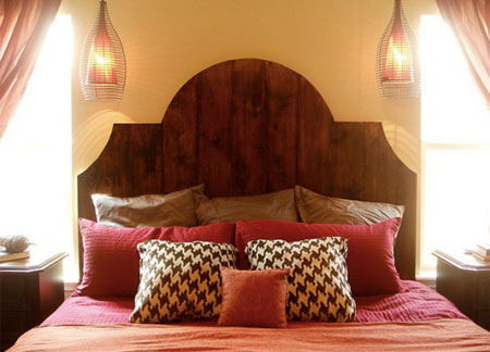 headboard reclaimed timber wood