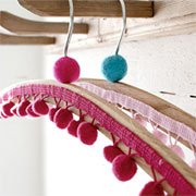 Decorative coat hangers