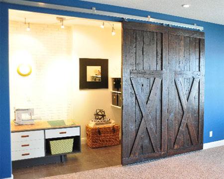 Home Dzine Home Diy How To Make Sliding Barn Doors