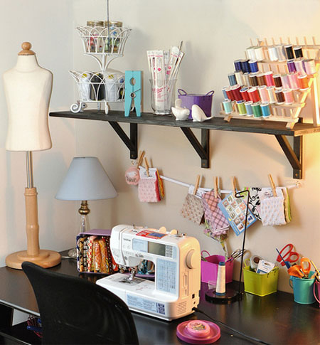 Home dzine craft ideas craft rooms that work for Craft work at home