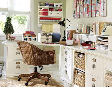 Home dzine craft ideas craft rooms that work - Home office craft room design ideas ...